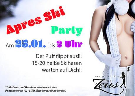 Après Ski Party im Sauna / FKK Club FKK Zeus Wallenhorst/Osnabrück (D) in Wallenhorst