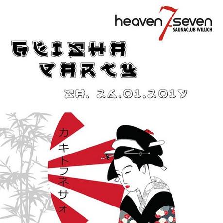 Geisha Party im Sauna / FKK Club Heaven Seven Willich (D) in Willich