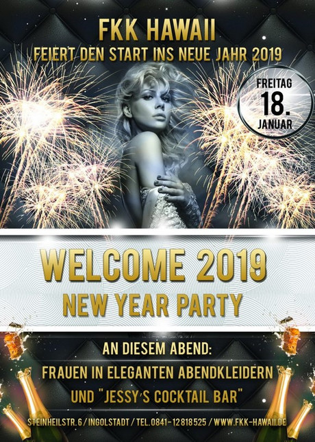 Welcome 2019 Party im Sauna / FKK Club FKK Hawaii Ingolstadt (D) in Ingolstadt