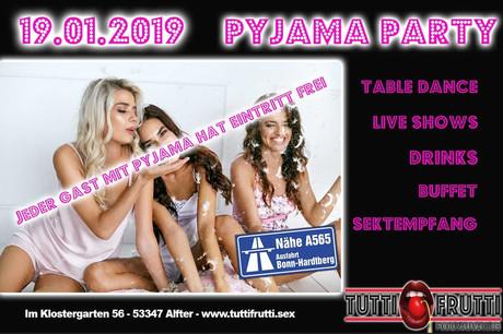 Pyjama Party im Sauna / FKK Club Tutti Frutti Alfter/Bonn (D) in Alfter