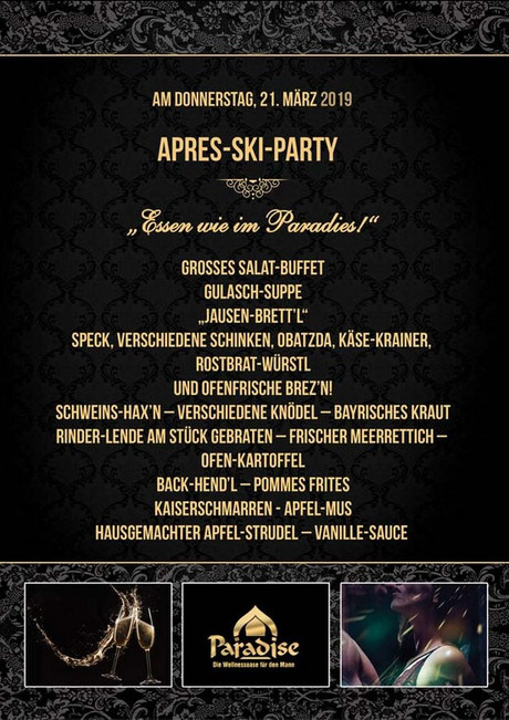 Après Ski Party im Sauna / FKK Club The Paradise Stuttgart Leinfelden-Echterdingen (D) in Leinfelden-Echterdingen
