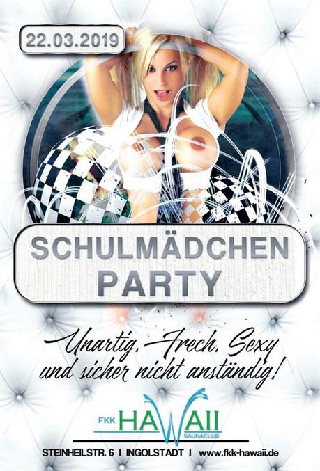 Schulmädchen Party im Sauna / FKK Club FKK Hawaii Ingolstadt (D) in Ingolstadt