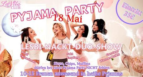 Pyjama Party im Sauna / FKK Club LaVita Wallenhorst/Osnabrück (D) in Wallenhorst