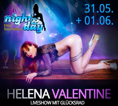 Helena Valentine im Sauna / FKK Club FKK Night & Day Bürstadt (D) in Bürstadt