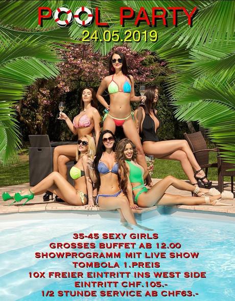 Pool Party im Sauna / FKK Club Westside Frauenfeld (CH) in Frauenfeld