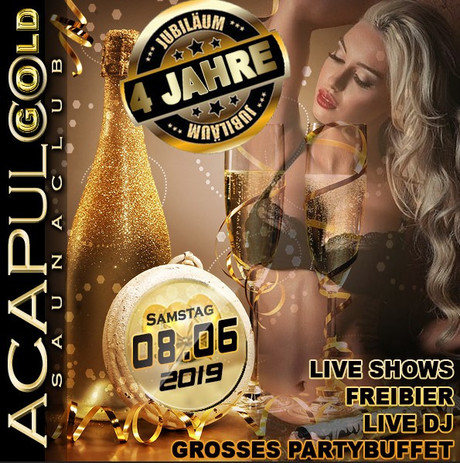 4th Birthday Party im Sauna / FKK Club Acapulco Gold Ratingen/Düsseldorf (D) in Ratingen (D)