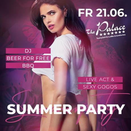 Summer Party im Sauna / FKK Club FKK The Palace Frankfurt (D) in Frankfurt