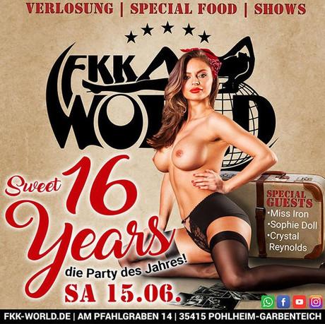 Sweet 16 Years im Sauna / FKK Club FKK World Pohlheim/Gießen (D) in  Pohlheim-Garbenteich