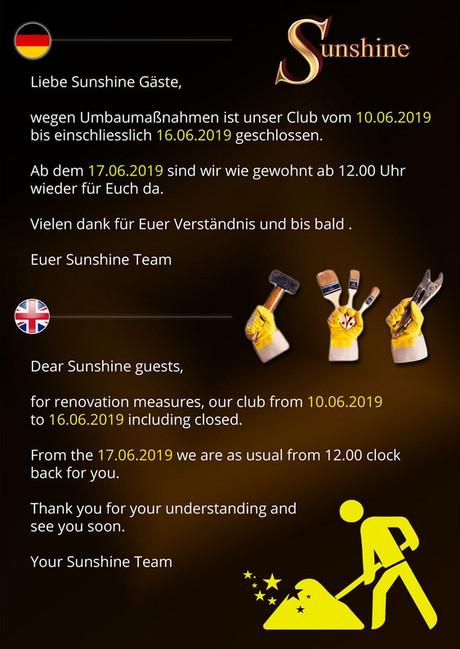Umbaumaßnahmen im Sauna / FKK Club FKK Sunshine München (D) in München