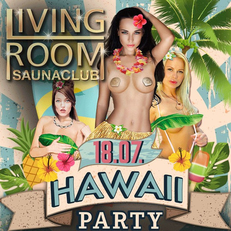 Hawaii Party im Sauna / FKK Club Living Room Kaarst/Düsseldorf (D) in Kaarst
