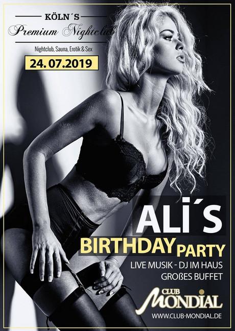 Ali's Birthday Party im Sauna / FKK Club Mondial Köln (D) in Köln