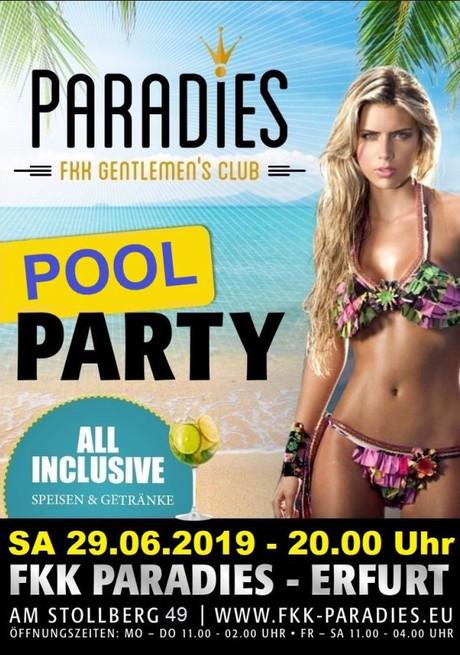 Pool Party im Sauna / FKK Club FKK Paradies Erfurt (D) in Erfurt