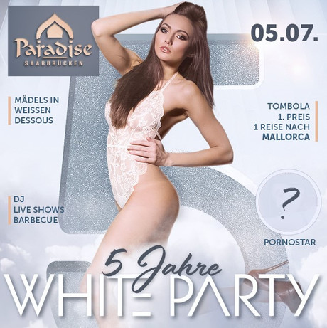 5th Birthday / White Party im Sauna / FKK Club FKK Paradise Saarbrücken (D)   in Saarbrücken