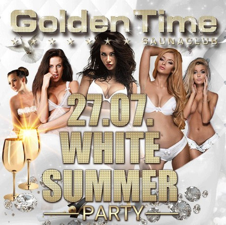 White Summer Party im Sauna / FKK Club Golden Time Brüggen (D) in Brüggen