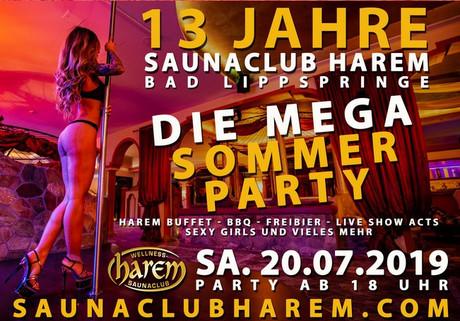 13th Birthday Party im Sauna / FKK Club Harem Bad Lippspringe (D) in Bad Lippspringe