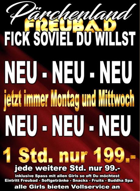 Fick soviel du willst - jetzt immer Montag & Mittwoch im Sauna / FKK Club FKK Freubad Recherswil (CH) in Recherswil