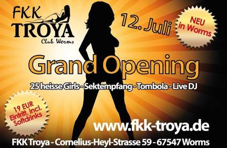 Neueröffnung im Sauna / FKK Club FKK Troya Worms (D) in Worms