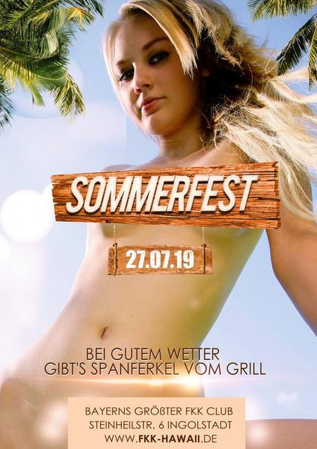 Sommerfest  im Sauna / FKK Club FKK Hawaii Ingolstadt (D) in Ingolstadt