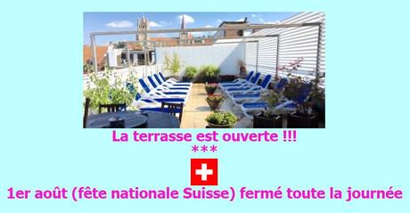 1er août 2019 (fête nationale Suisse) fermé im Sauna / FKK Club FKK New Relax Lausanne (CH) in Lausanne