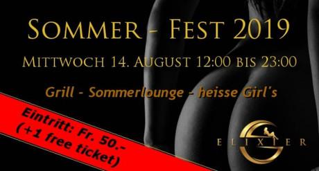Sommerfest im Sauna / FKK Club Elixier Volketswil/Zürich (CH) in Volketswil
