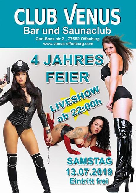 4th Birthday Party im Sauna / FKK Club Venus Offenburg (D) in Offenburg