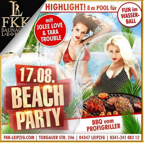 Beach Party im Sauna / FKK Club FKK Leipzig (D) in Leipzig