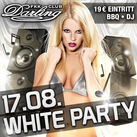 White Party im Sauna / FKK Club FKK Darling Nidderau/Frankfurt (D) in Nidderau