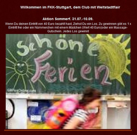 Aktion Sommer im Sauna / FKK Club FKK Phönix Stuttgart (D) in Stuttgart