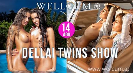 Dellai Twins Show im Sauna / FKK Club Wellcum Hohenthurn/Villach (A) in Hohenthurn