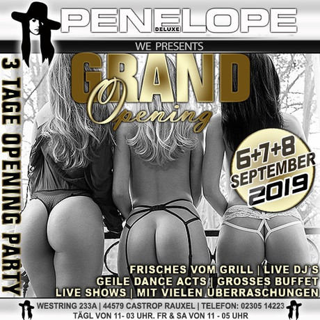 Grand Opening  im Sauna / FKK Club Penelope de Luxe Castrop-Rauxel (D) in Castrop-Rauxel