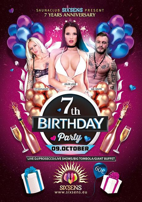 7th Birthday Party im Sauna / FKK Club Sixsens Vaals-Lemiers (NL) /Aachen in Lemiers