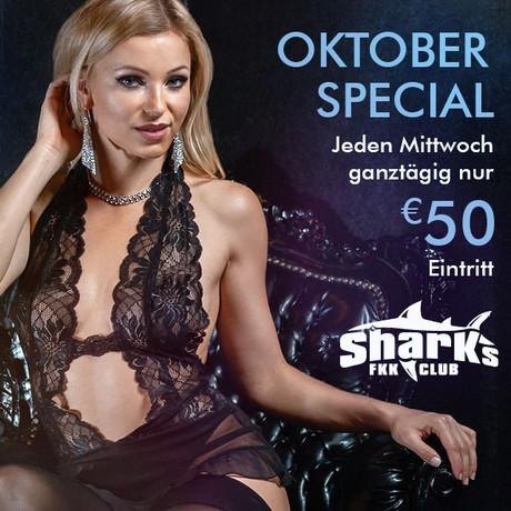 October Special im Sauna / FKK Club FKK Sharks Darmstadt/Frankfurt (D) in Darmstadt