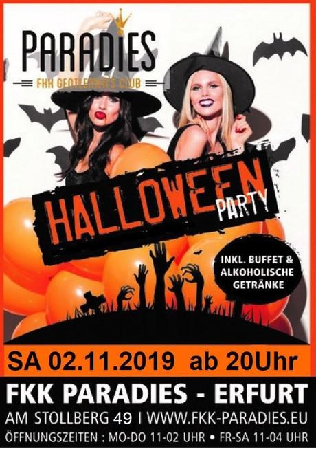 Halloween FKK Paradies im Sauna / FKK Club FKK Paradies Erfurt (D) in Erfurt