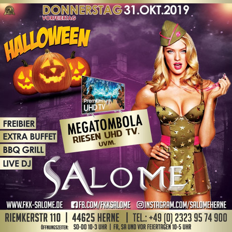 Halloween Salome im Sauna / FKK Club Salome Herne (D) in Herne