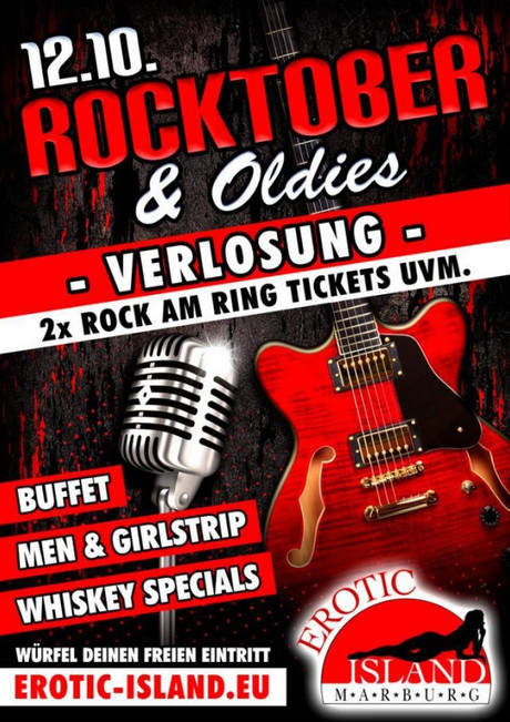 Rocktober & Oldies im Sauna / FKK Club Erotic Island Marburg (D) in Marburg