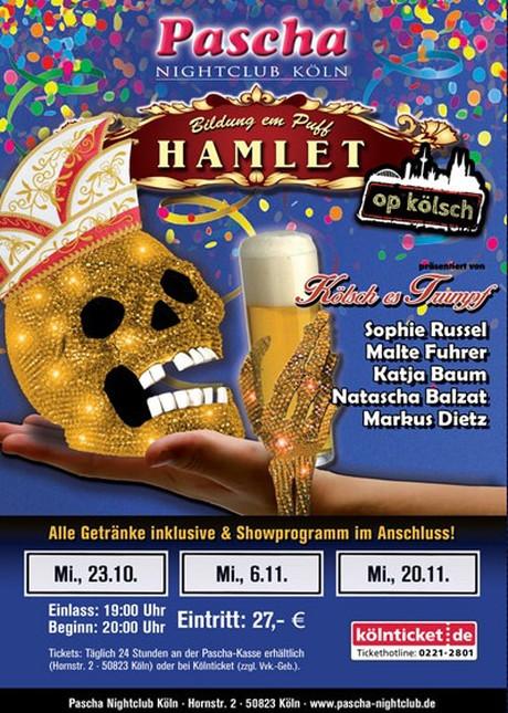 HAMLET op Kölsch im Sauna / FKK Club Pascha Nightclub Köln (D) in Köln