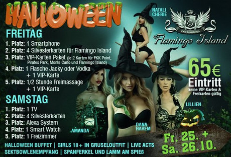 Halloween FKK Flamingo Island im Sauna / FKK Club FKK Flamingo Island Ettlingen/Karlsruhe (D) in Ettlingen
