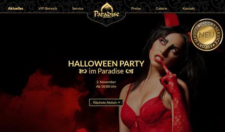 Halloween FKK Paradise Graz im Sauna / FKK Club FKK Paradise Graz (A) in Graz-Liebenau