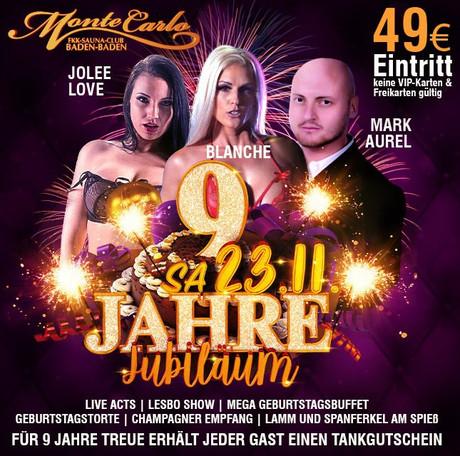 9th Birthday Party im Sauna / FKK Club FKK Monte Carlo Baden-Baden (D) in Baden-Baden