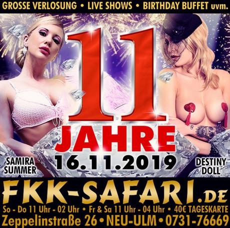 11th Birthday Party im Sauna / FKK Club FKK Safari Neu-Ulm (D) in Neu-Ulm