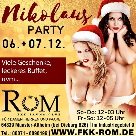 Nikolaus Party FKK Rom im Sauna / FKK Club FKK Rom Münster-Altheim/Frankfurt (D) in Münster-Altheim