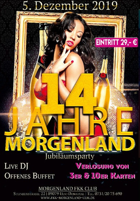 14th Birthday Party im Sauna / FKK Club FKK Morgenland Ulm (D) in Ulm
