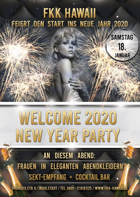 Welcome 2020 New Year Party im Sauna / FKK Club FKK Hawaii Ingolstadt (D) in Ingolstadt