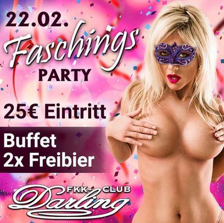 Faschingsparty FKK Darling im Sauna / FKK Club FKK Darling Nidderau/Frankfurt (D) in Nidderau