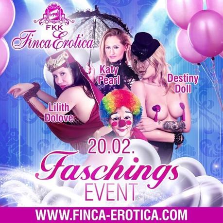 Faschingsparty FKK Finca Erotica im Sauna / FKK Club FKK Finca Erotica Dierdorf (D) in Dierdorf