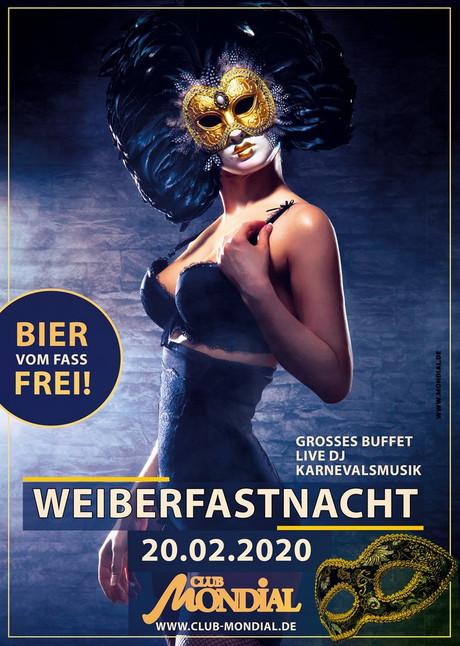 Weiberfastnacht Mondial  im Sauna / FKK Club Mondial Köln (D) in Köln
