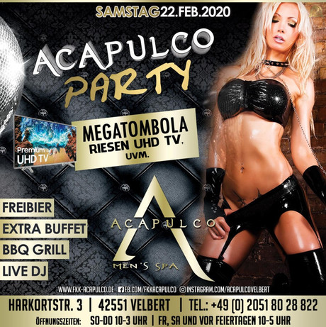 Acapulco Party im Sauna / FKK Club Acapulco Velbert (D) in Velbert