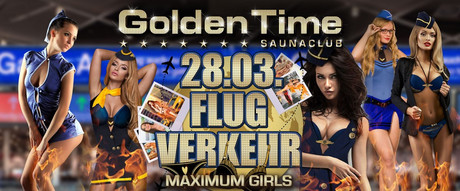 Flugverkehr  im Sauna / FKK Club Golden Time Brüggen (D) in Brüggen