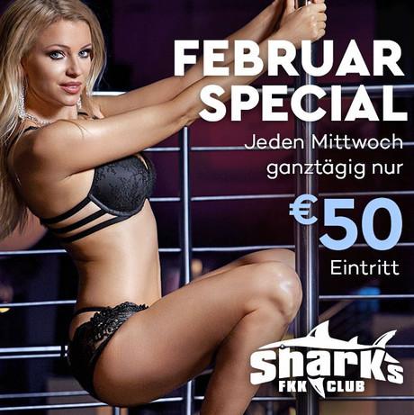 Entry Special im Sauna / FKK Club FKK Sharks Darmstadt/Frankfurt (D) in Darmstadt