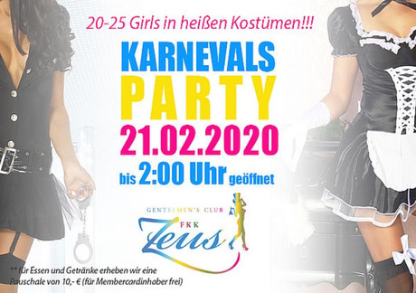 Karnevalsparty  im Sauna / FKK Club FKK Zeus Wallenhorst/Osnabrück (D) in Wallenhorst